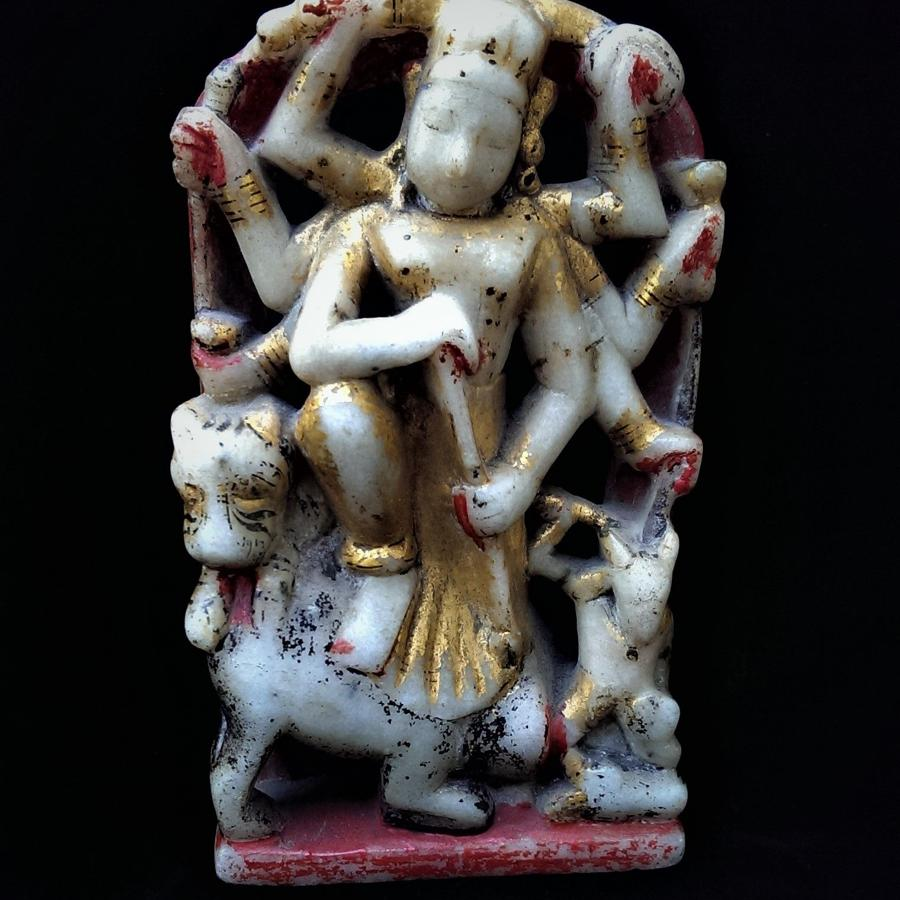 Statuette of Durga Slaying Mahishasura, the Buffalo Demon