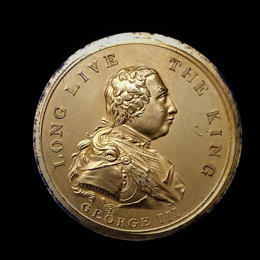 King George III of England, Gilt Bronze Golden Jubilee Medal