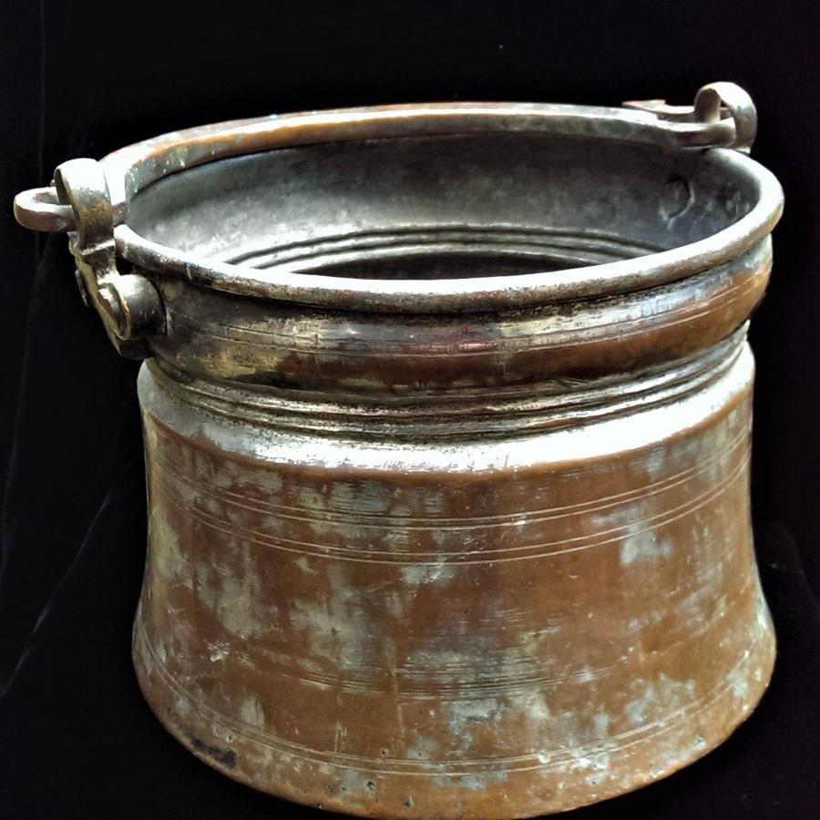Qajar Dynasty Tinned Copper Pail