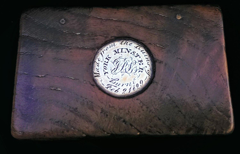 George IV Period, York Minster Oak & Silver Snuff Box, 1829