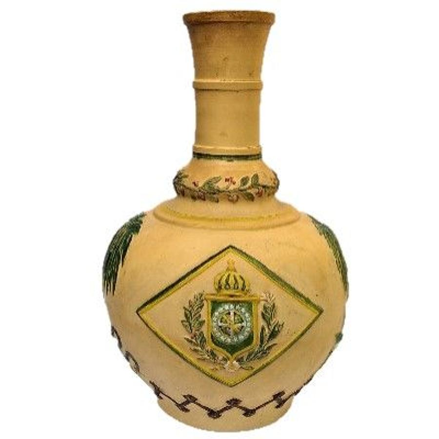 Empire of Brazil Terracotta Bottle-Vase Carafe c.1870s