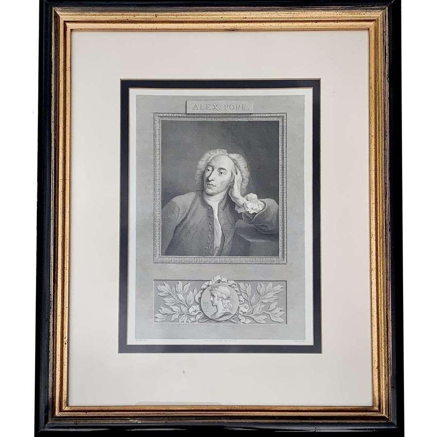 Alexander Pope (1688-1744), Engraved Portrait, 1794