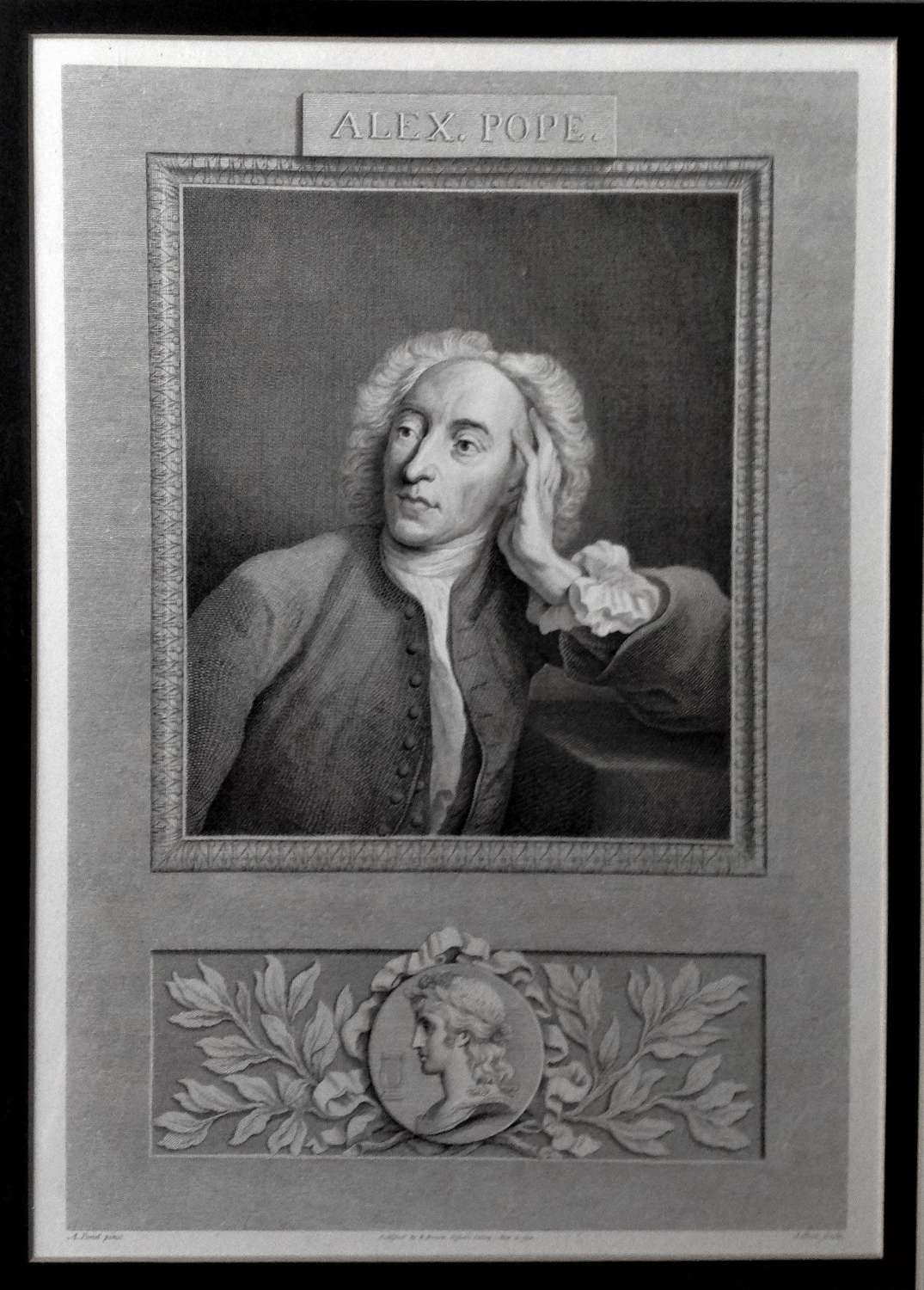 Alexander Pope (1688-1744), Engraved Portrait, 1794