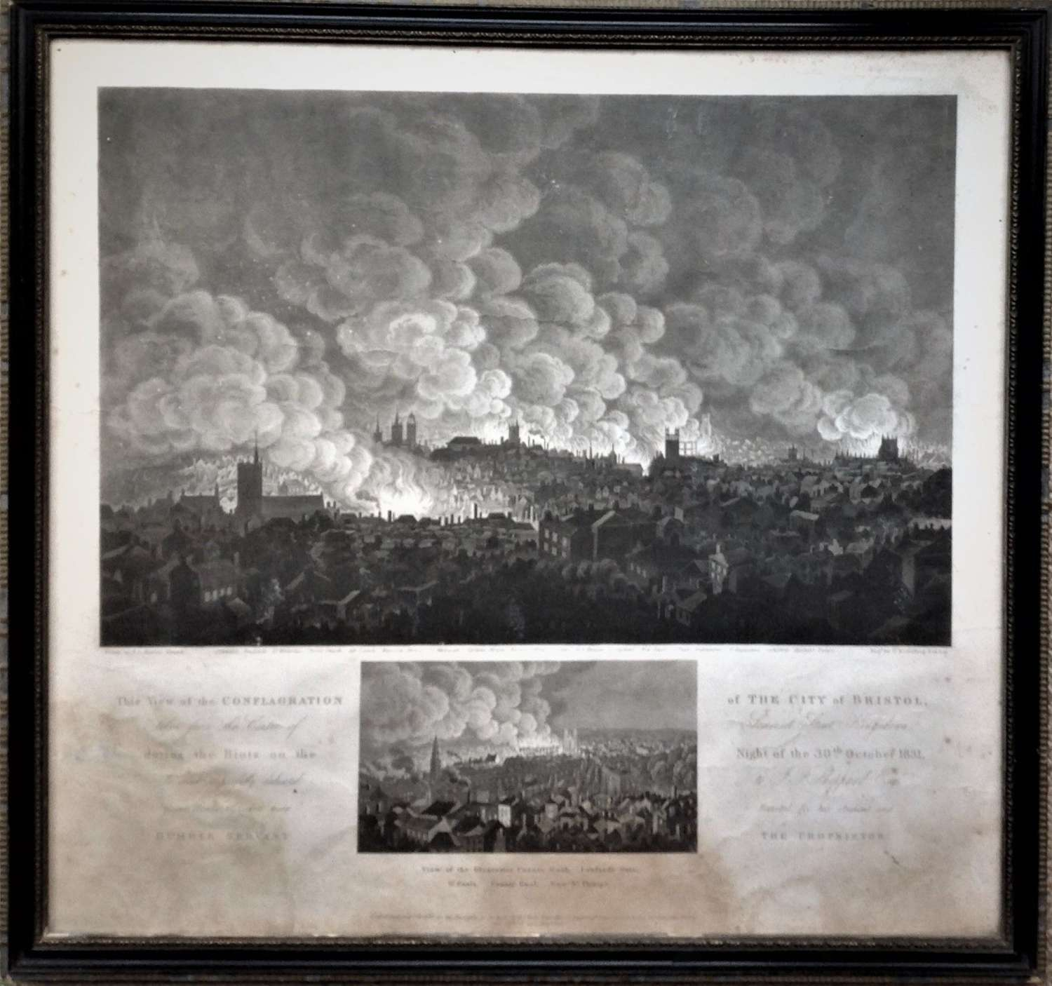 The Conflagration of the City of Bristol 30th October 1831