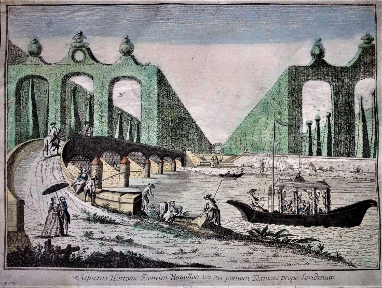 Vue d'Optique of Lord Hamilton's Grounds, Circa 1780