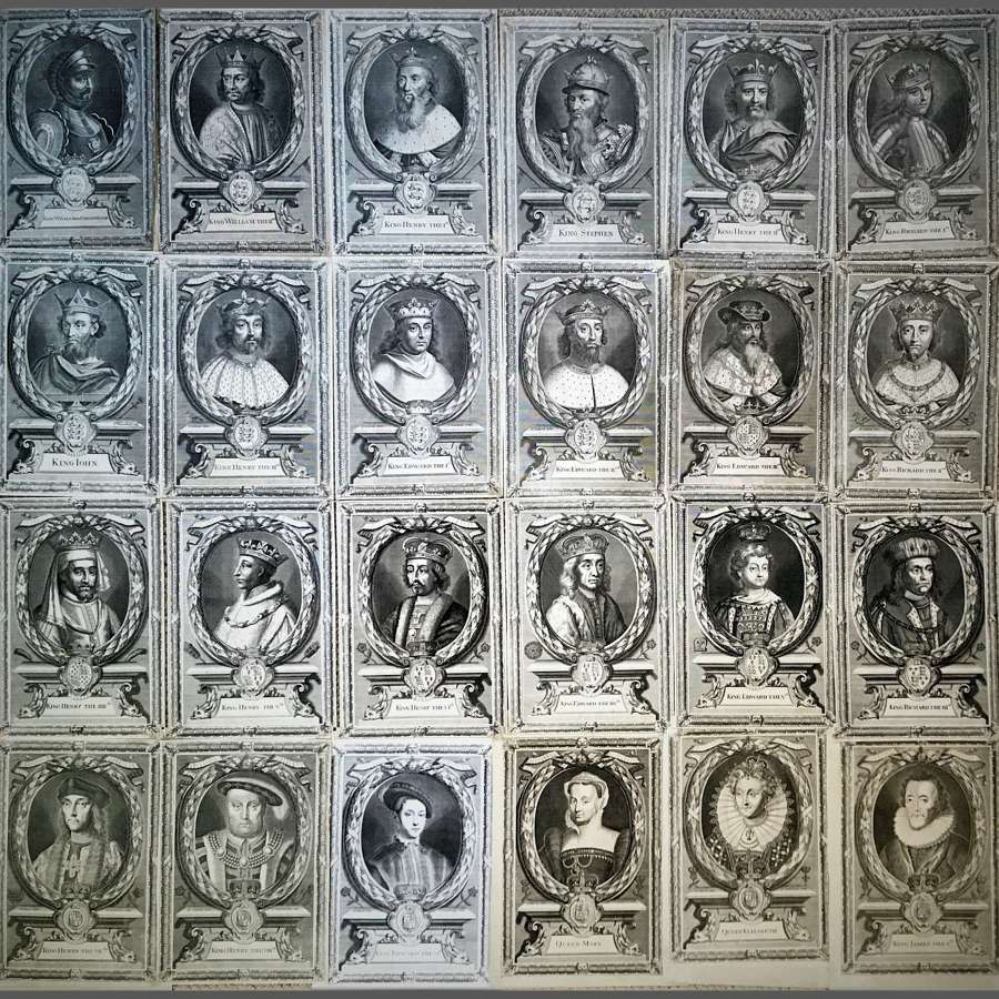 Set of Twenty-Four Portraits of English Monarchs, William I to James I