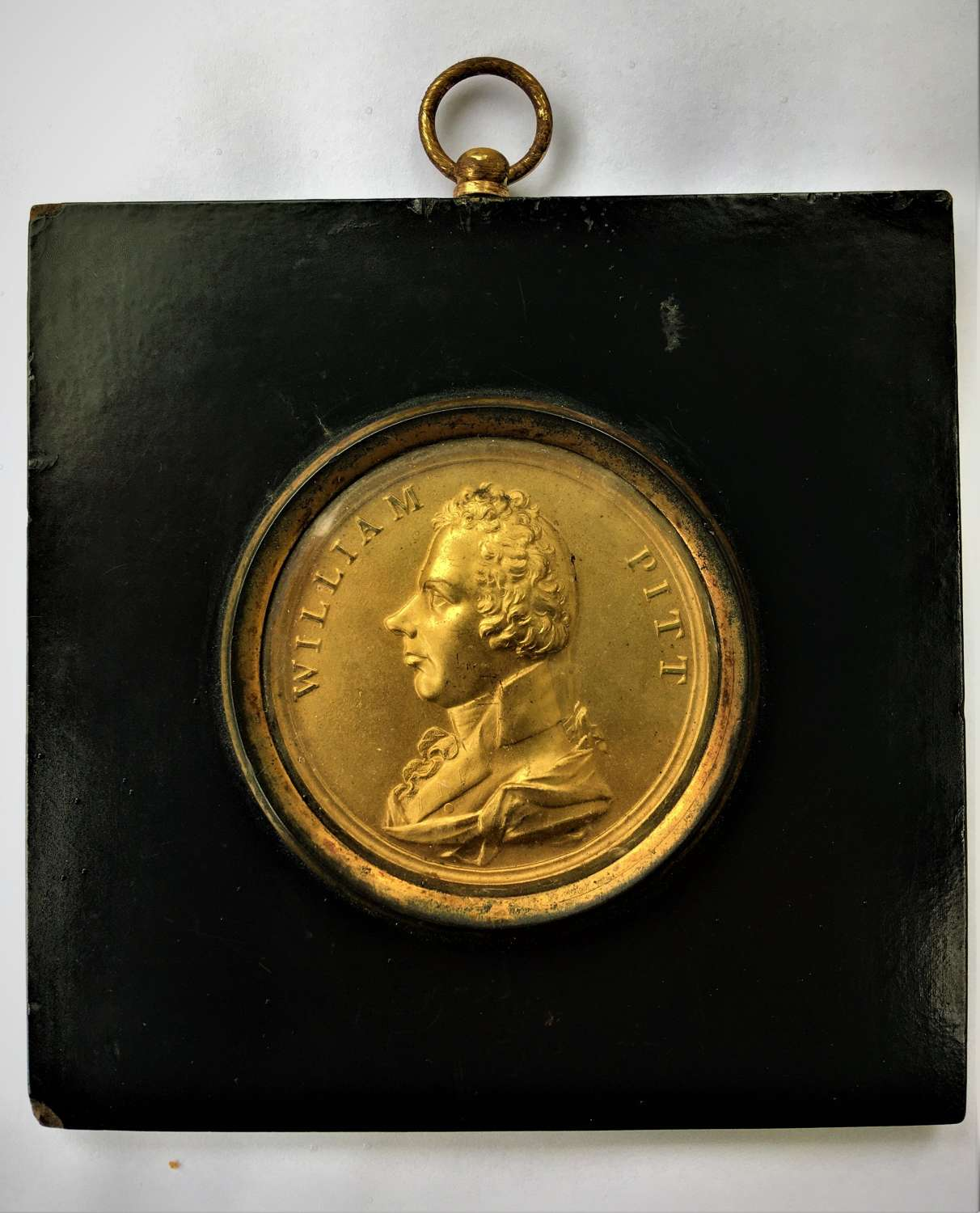 Gilt Bronze Portrait Plaque of William Pitt