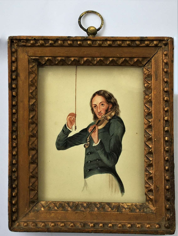 Nicolò Paganini (1782-1840), Miniature portrait, Circa 1831