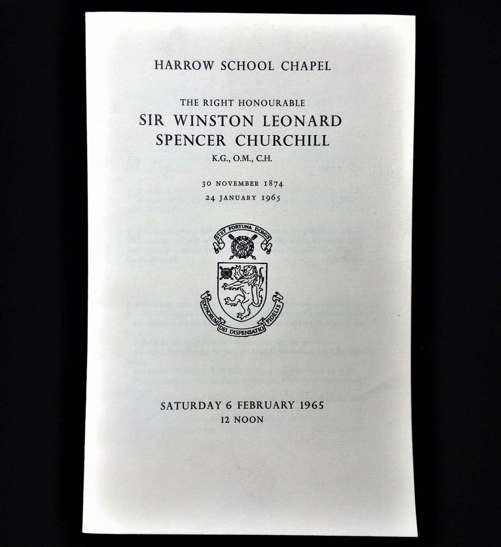 A Rare Item of Ephemera relating to Winston Churchill (1874-1965)