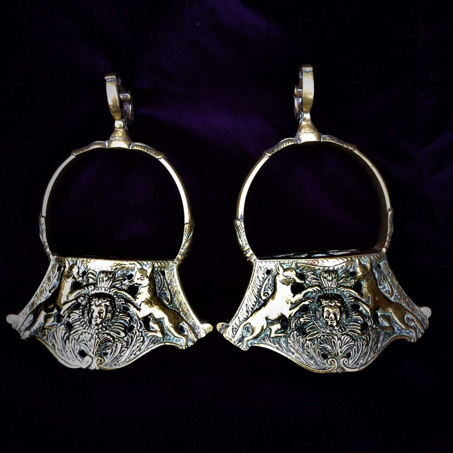 "A Fine Pair of ""Estribos de Campaña"" (Bell Stirrups)"