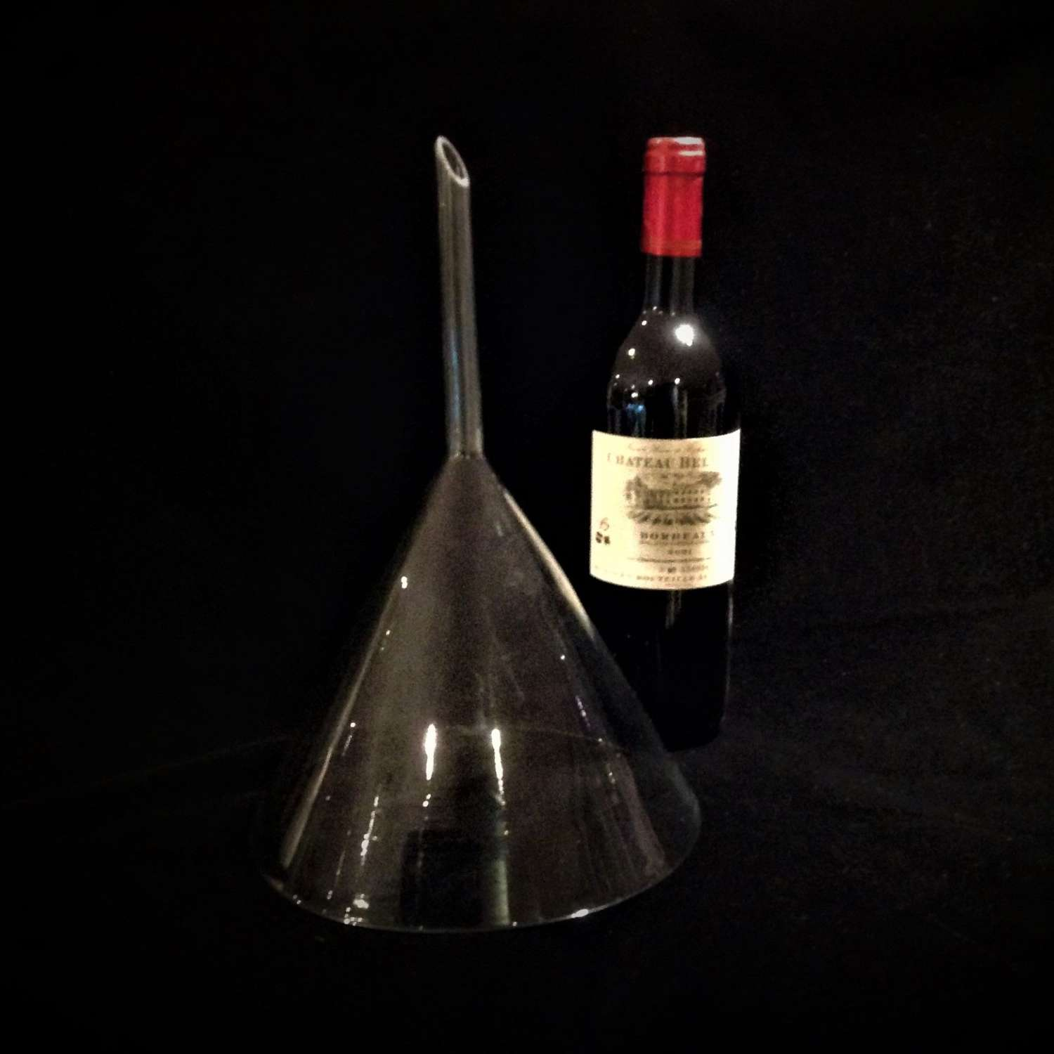 An Especially Large Hand-Blown Glass Wine Funnel