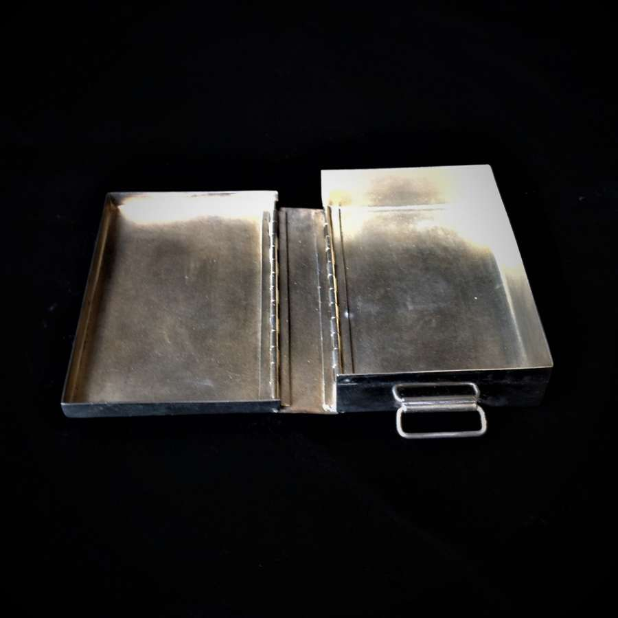 Silver Plated Hunting Sandwich Box