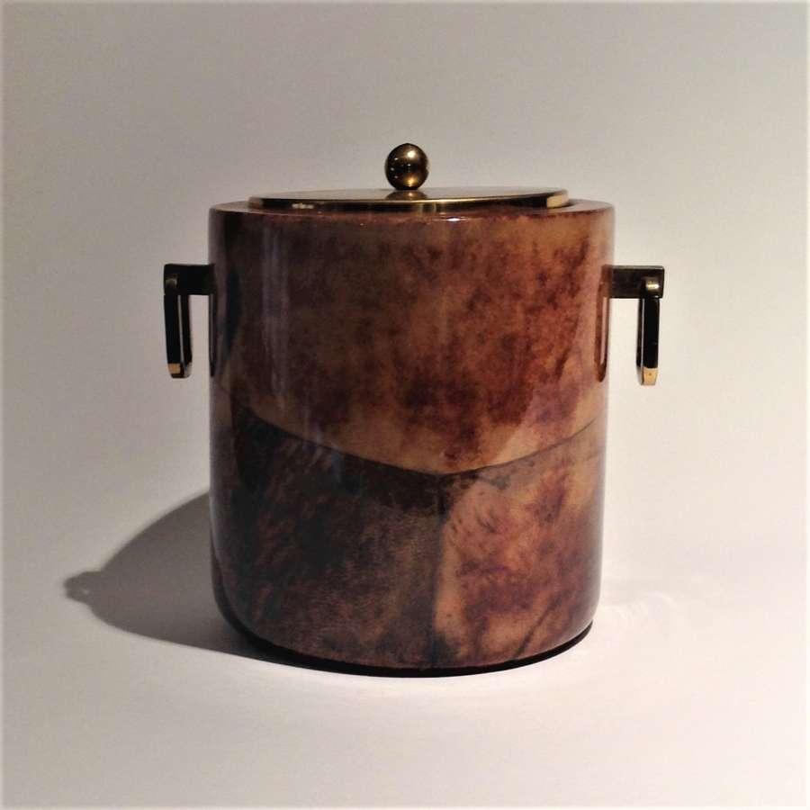 Mid-Century Modern Ice Bucket, Aldo Turo (1909–63) for Macabo, Italy