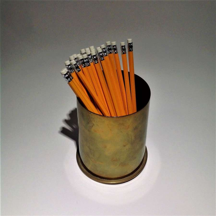 A Useful Brass Desk Tidy or Pencil Holder
