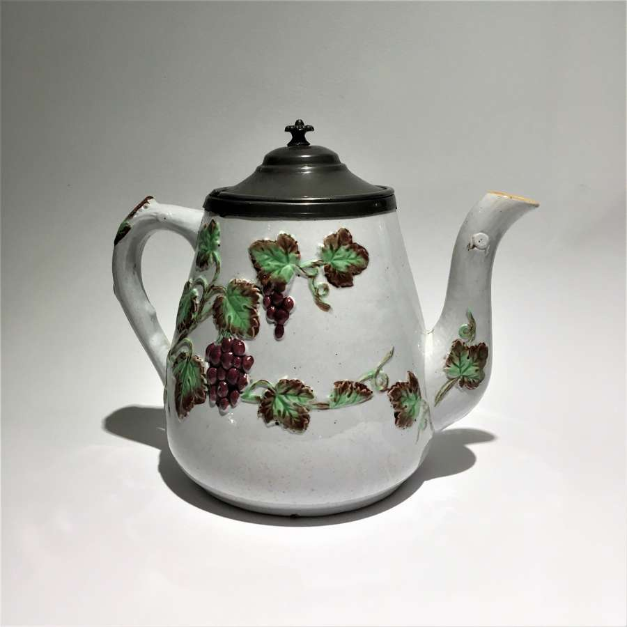 Stoneware & Pewter Glühwein, Vin Chaud or Mulled Wine serving pot