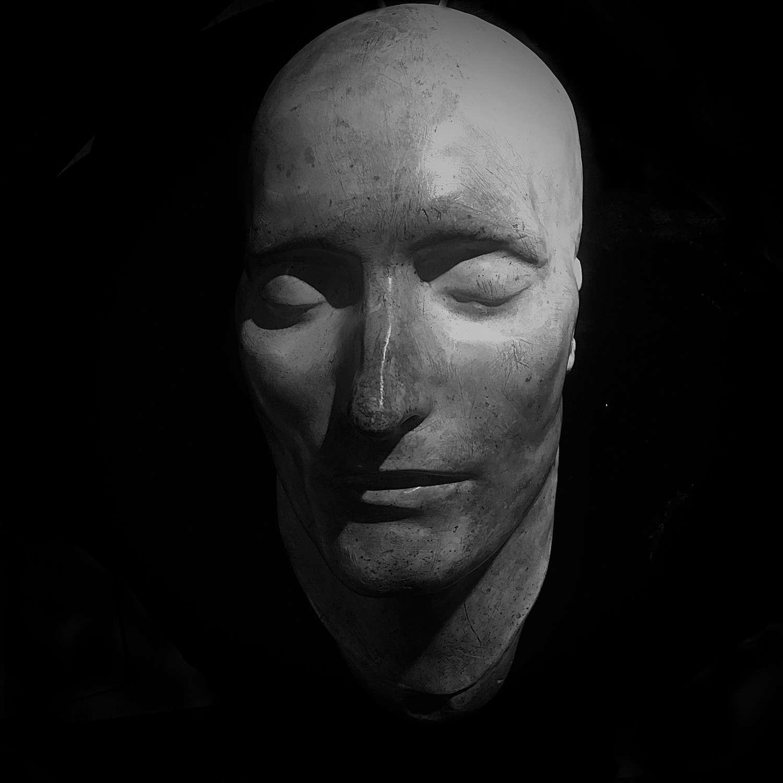 A cast of the Dr Antommarchi death mask of Napoléon Bonaparte