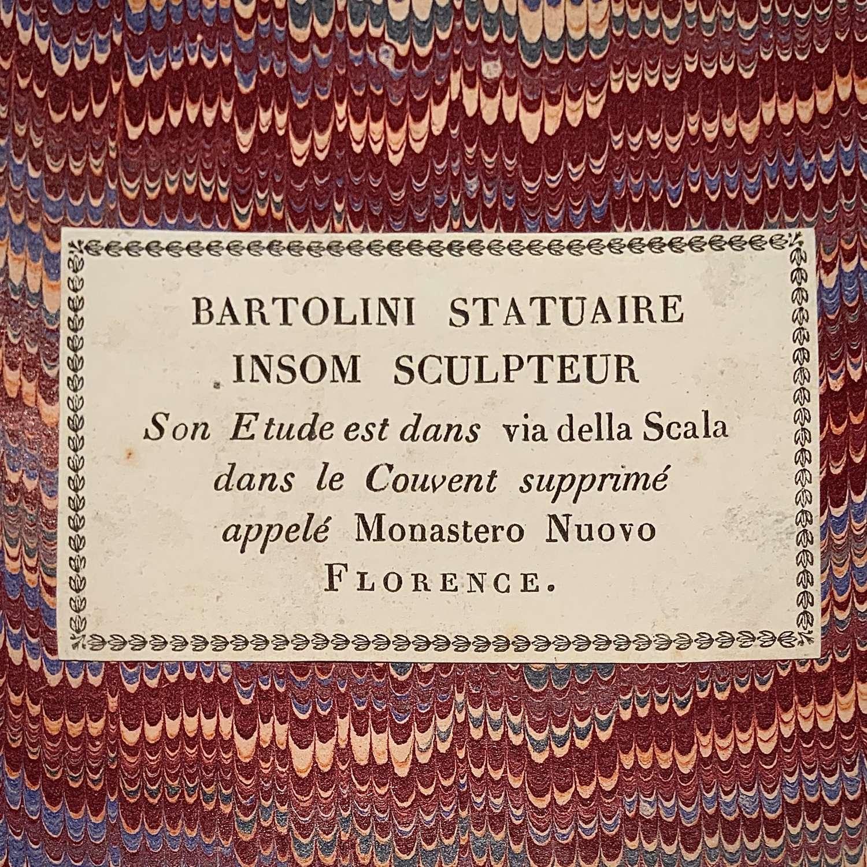 Lorenzo Bartolini (1777-1850) & Giovanni Insom (1775-1855)