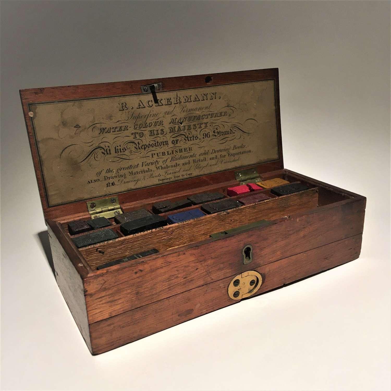 An Early 19th Century Artist's Watercolour Paint Box Set