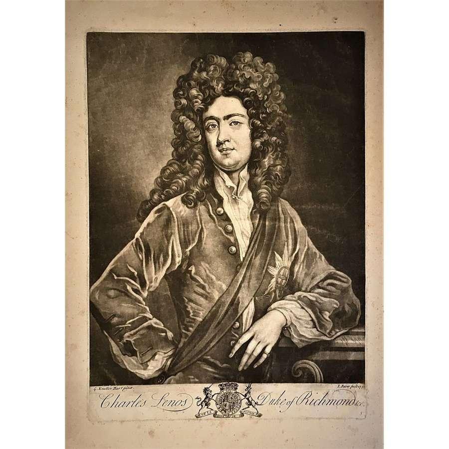 Charles Lennox, 1st Duke of Richmond & Lennox (1672–1723), Mezzotint