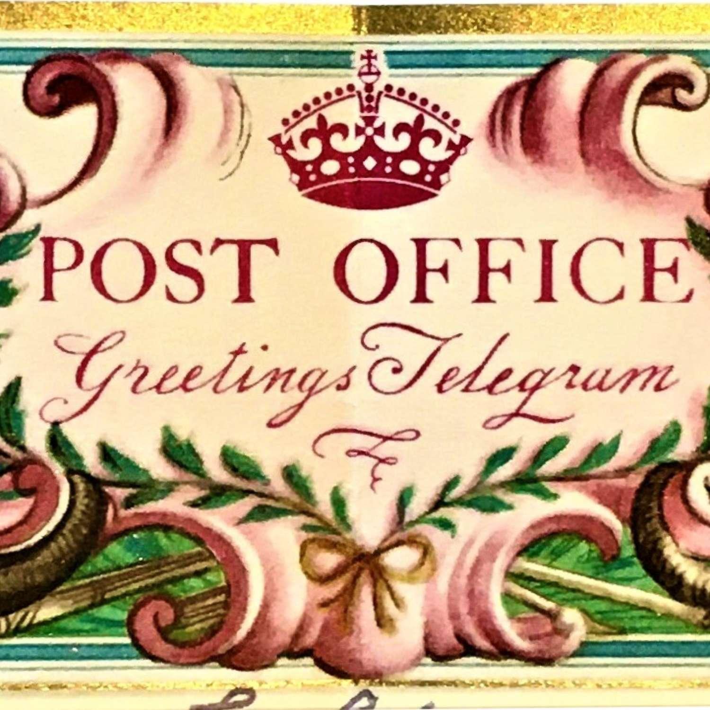 Telegram designed by Rex Whistler (1905–1944)