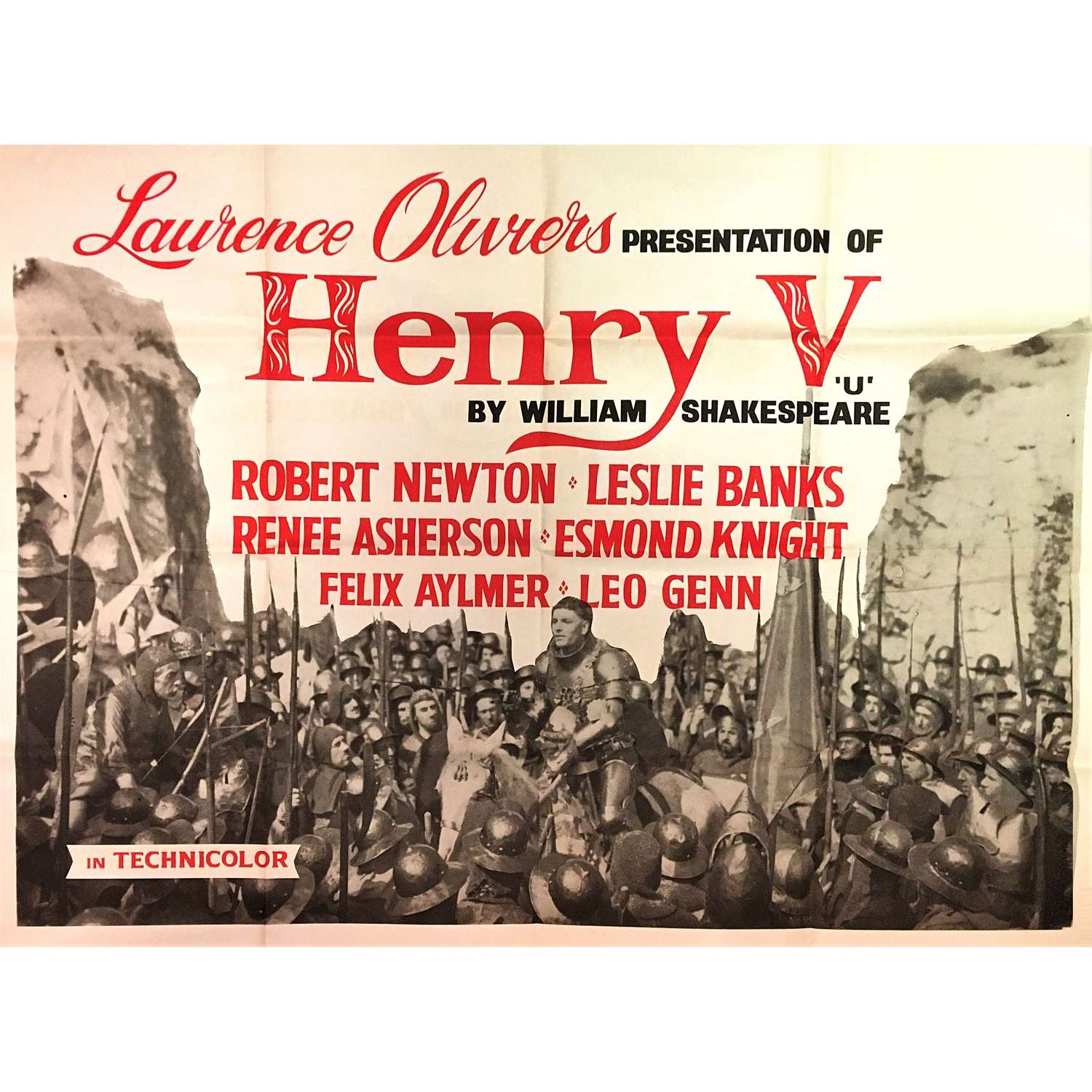 Laurence Olivier's epic movie of William Shakespeare's