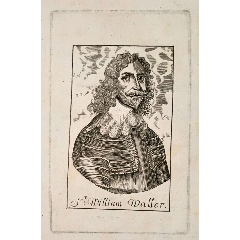 Sir William Waller (1597-1668), line-engraved portrait circa 1647