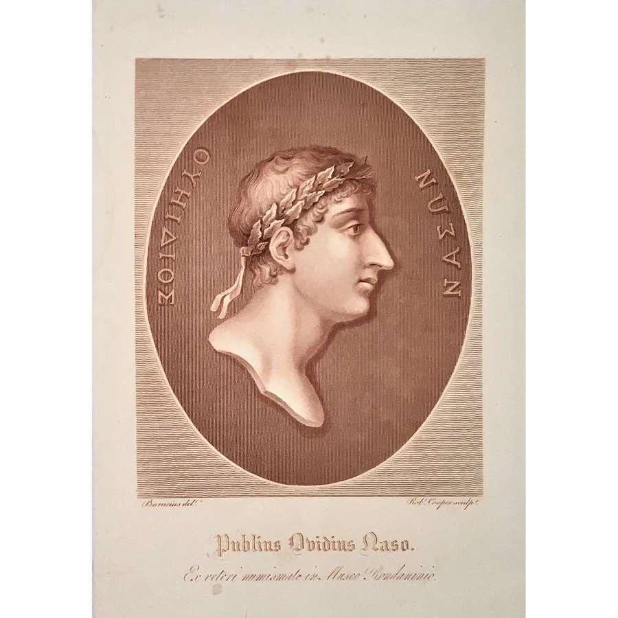 'Ovid' (Publius Ovidius Naso) (43BC-17/18AD), Stipple Engraving