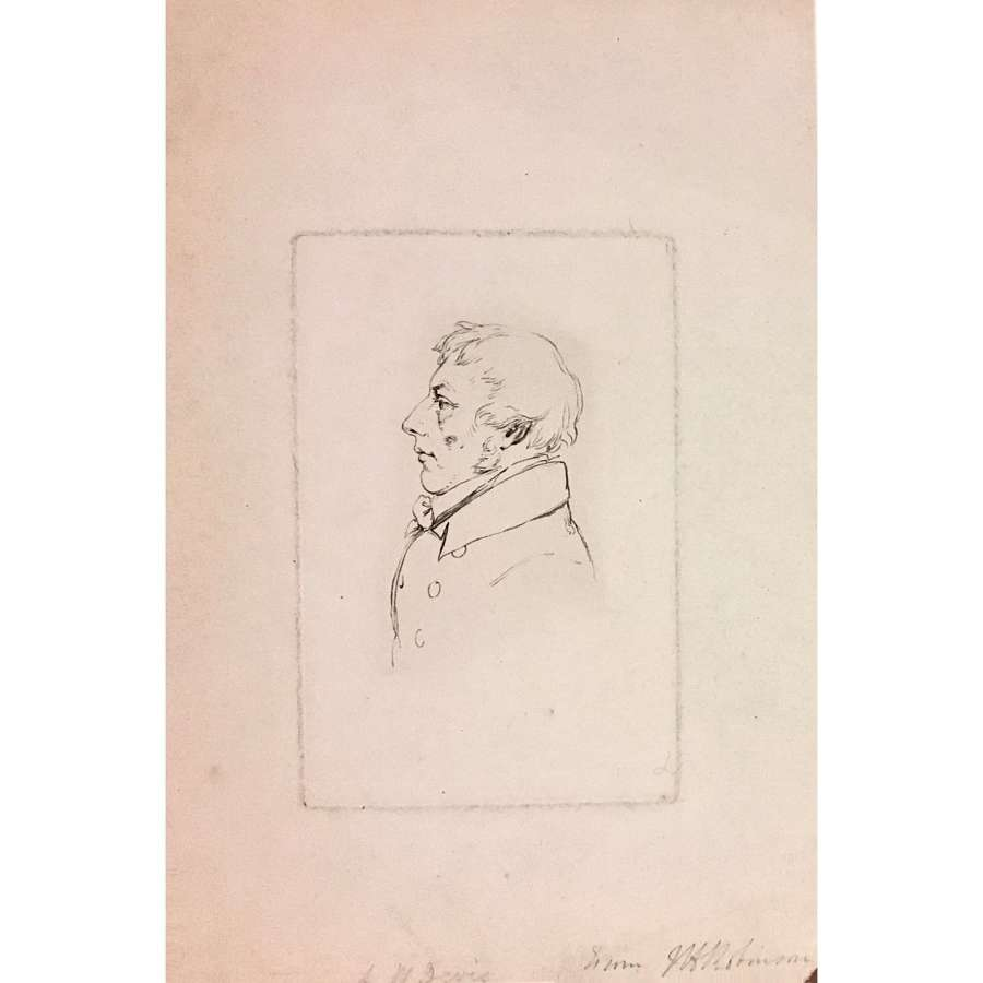 Engraved portrait of Arthur William Devis (1762–1822), signed