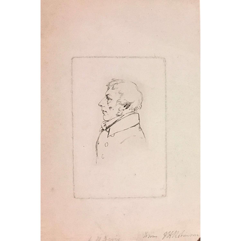 Engraved portrait of Arthur William Devis (1762–1822), signed