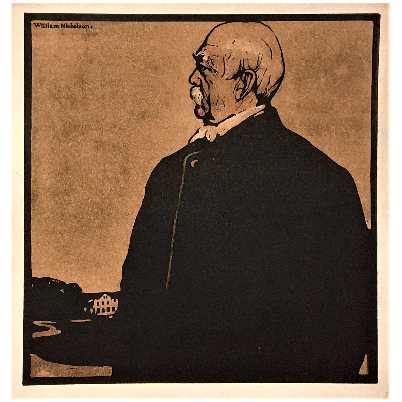 Sir William Nicholson (1872-1949) Hand-Coloured Woodcut