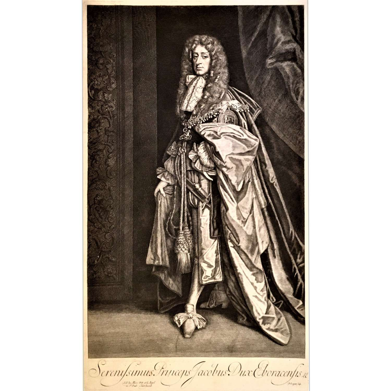 Engraving of James II (1633-1701) as Duke of York