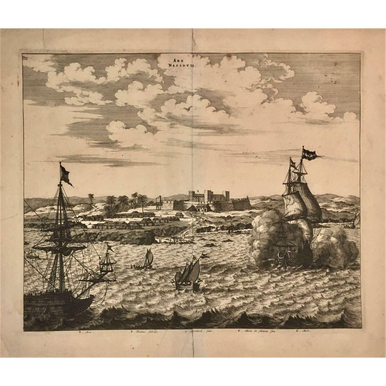 A rare 17th Century depiction of Fort Nassau (New Amsterdam), Guyana