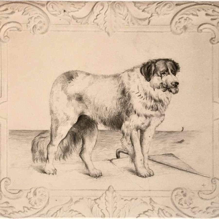 English School 19th Century, original pencil drawing