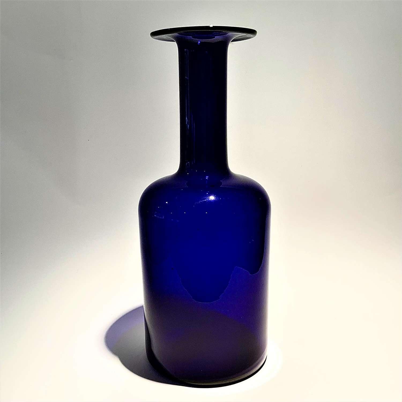 Cobalt blue mid-century modern 'Gulvvase' glass vase, circa 1960