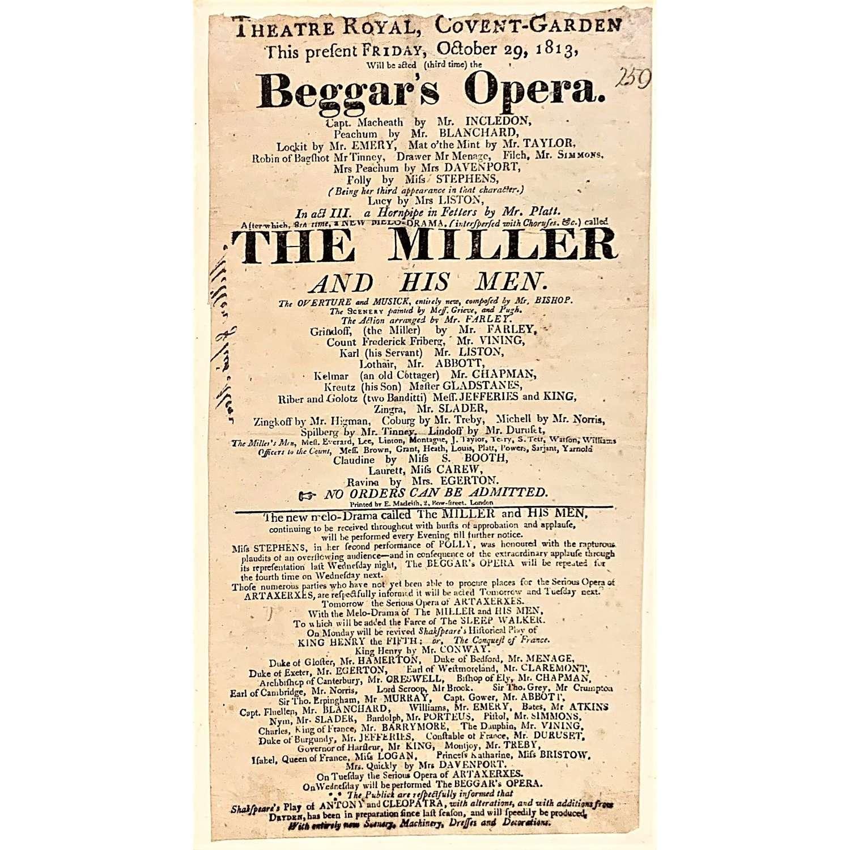 Regency Playbill for