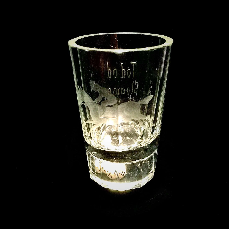 A Very Rare Victorian Gaming Beaker Or Dice Glass, English, Circa 1900