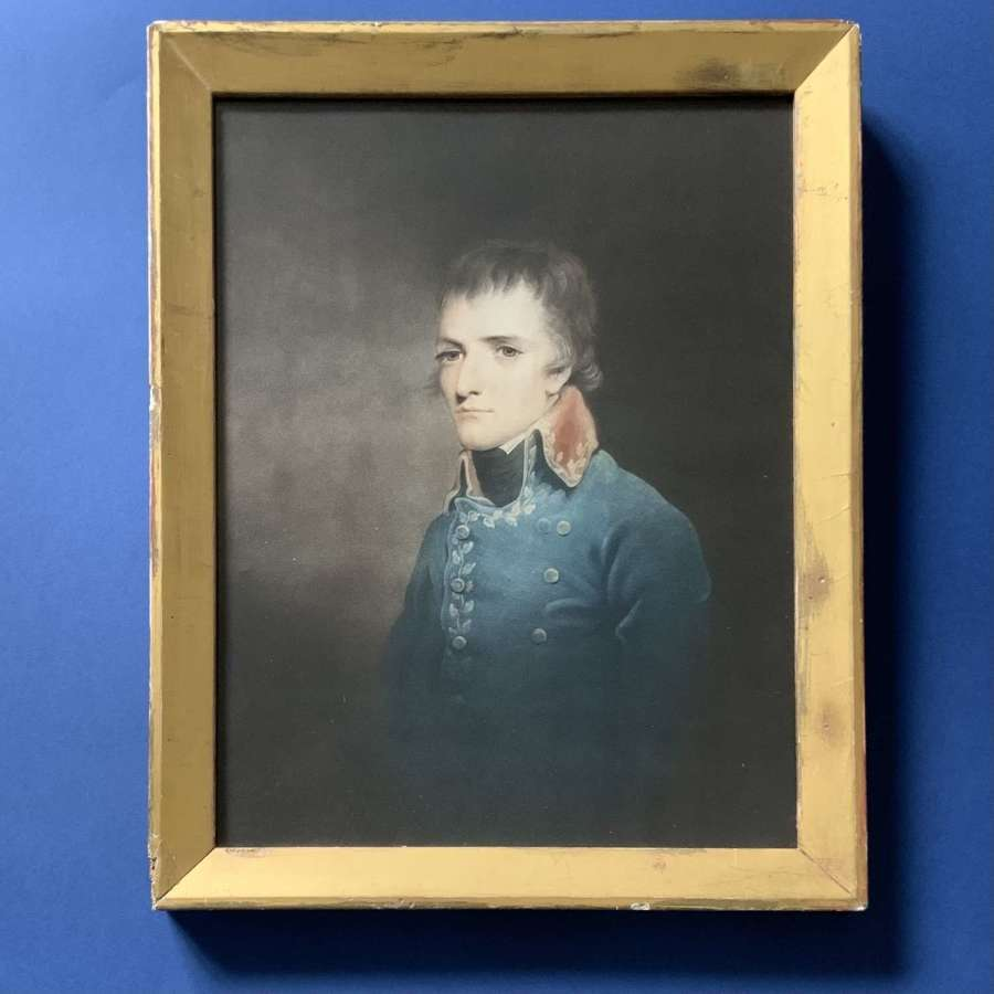 Napoleon Bonaparte First Consul of France 1801 mezzotint portrait
