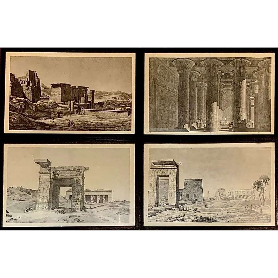 A set of four (4) framed and glazed prints of ancient Egyptian ruins